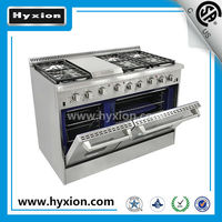 freestanding high quality 6 burner gas cooker with griddle