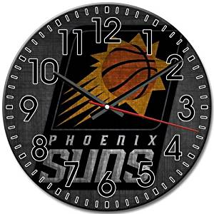 Round Wall Clock Silent Frameless NEW Phoenix Suns Arabic Numbers Simple 10 Inch / 25 cm Diameter