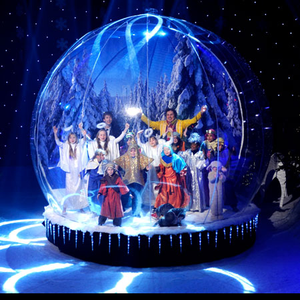 3M Dia Christmas Giant Human Size Inflatable Snow Globe Photo Booth,Inflatable Bounce House Snow Globe With Blowing Snow