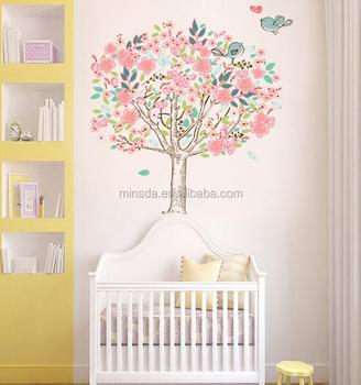 blossom kersenboom baby meisje nursery slaapkamer muurstickers