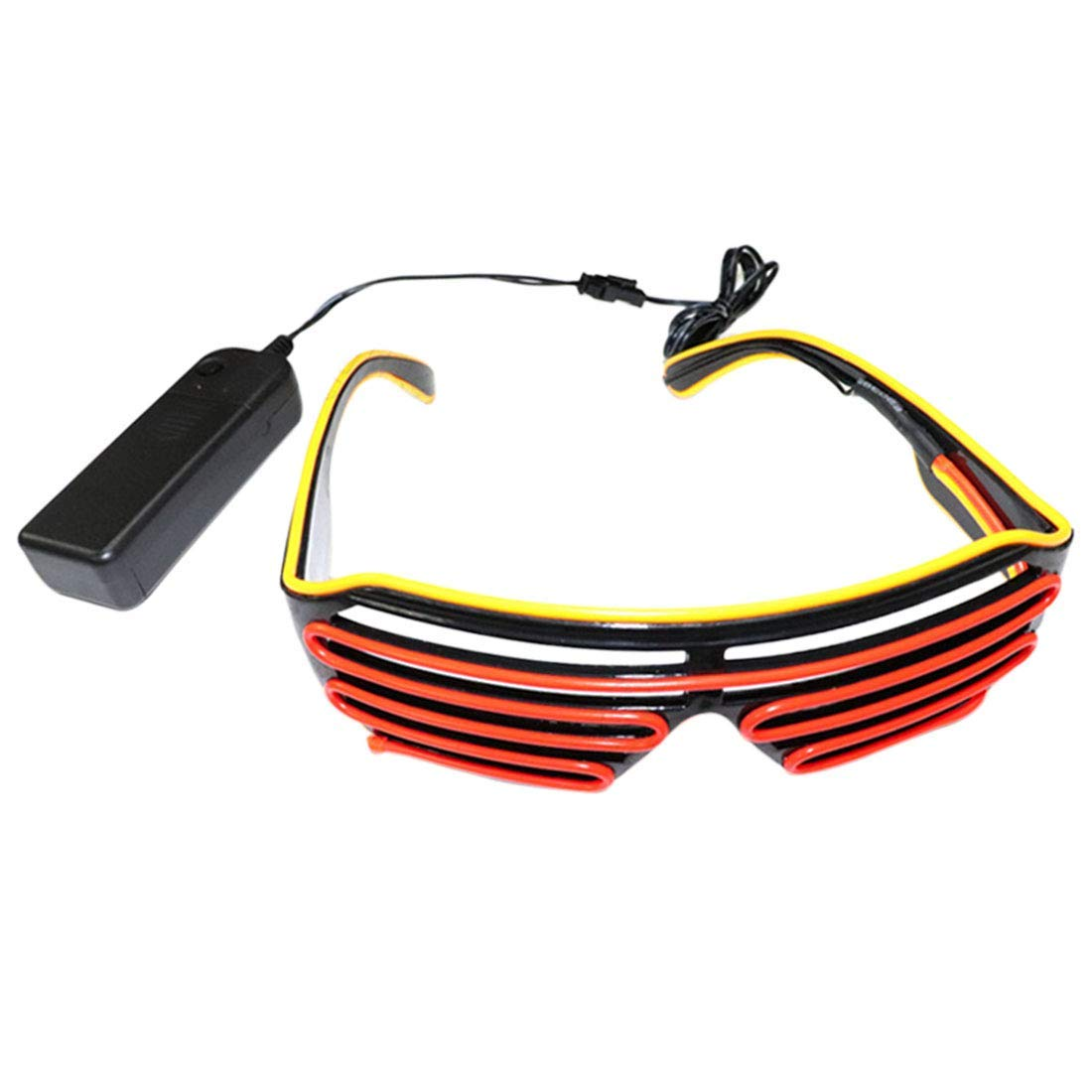8087f9b950b3 Get Quotations · FREAHAP R LED Glassses Glowing Glasses Light-up Shutter  Glasses Flashing EL Wire Eye Safe