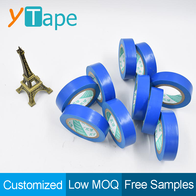 Thick Light Vinyl Adhesive Electric Insulation Blue Electrical Tape