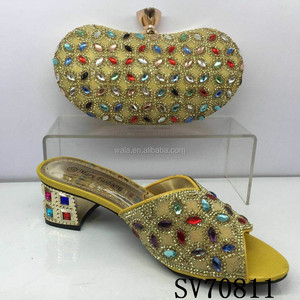 SV70811 heel shoes and bags italian for women multi colour