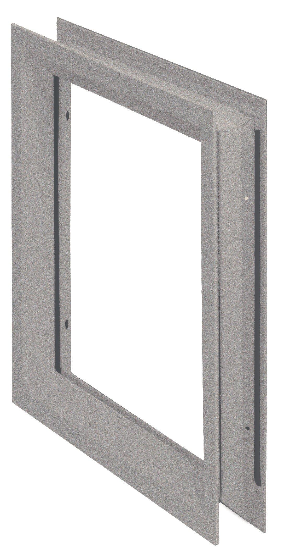 "National Guard LFRA100722  NGP Low Profile Vision Lite Kit for Door Opening Cutout, 7"" x 22"""