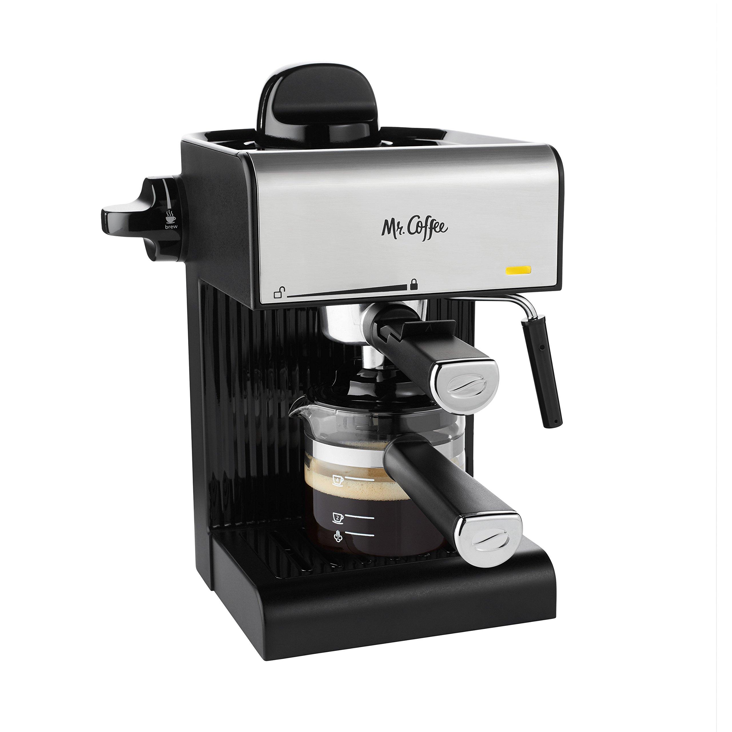 Get Quotations · Mr. Coffee BVMC-ECM180 Steam Espresso with Starter Set,  Black