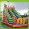 water slide material pvc tarpaulin used giant inflatable water park slide for sale