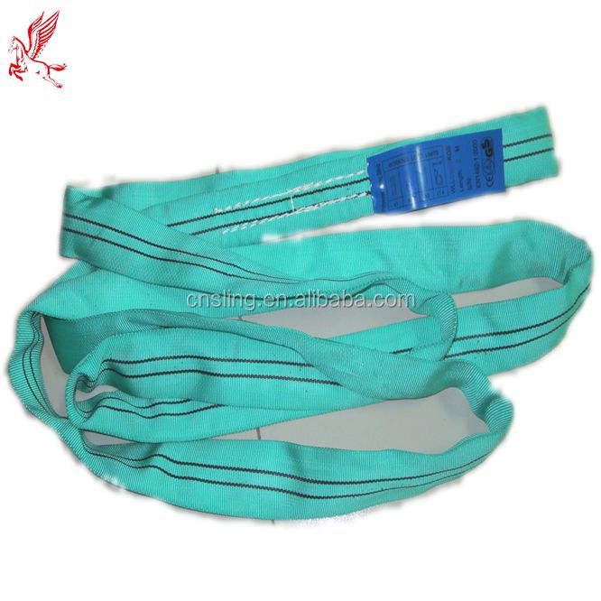 CE certificate SF 6:1 polyester round endless slings/flat eye-eye round sling