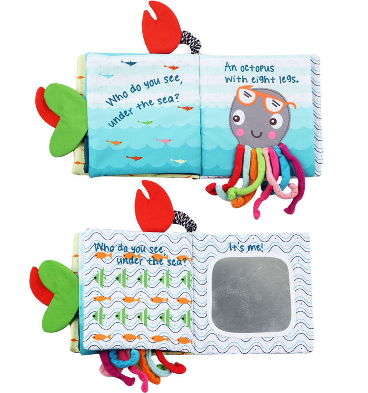 Educational kid cloth book story book pre school