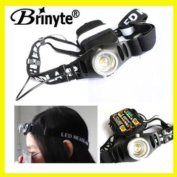 Brinyte 1 Led 3 Aaa Cree Q5 Zoom Black Light Headlamp