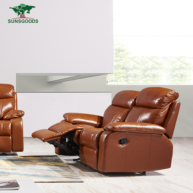 Best Selling Luxury Modern Furniture Italian Leather Reclining Chair  ,Vintage Leather Chesterfield Sofa