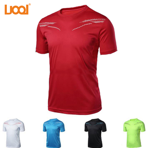 2017 Wholesale Round Neck 100% Polyester Dry Fit Compression T shirt Sports Athletes Jersey Tshirt