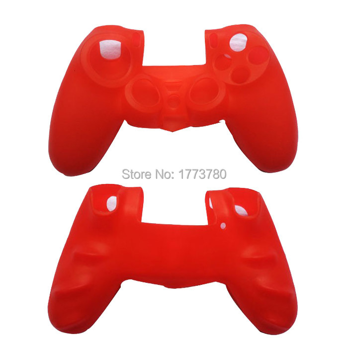 5pcs/Lot Delicate Soft Silicone Rubber Gel Cover Case For Sony PS4 Controller Black/Blue/Red/Green/White