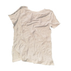 Industrial cleaning white cotton t-shirt rags