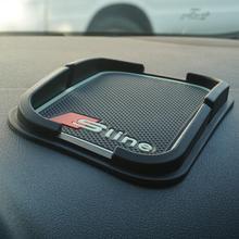 High Quality Car Mobile Phone S line Anti-Slip Mat For AUDI Q5 Q7 A1 A3 A4 A5 A6 All Series Car Interior Accessories Car Styling
