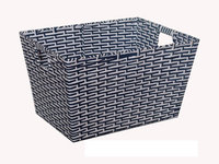 2017CAC Fair hot sale handmade weaving plastic wicker basket