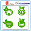 Green custom recyclable Sticker,self adhesive stickers