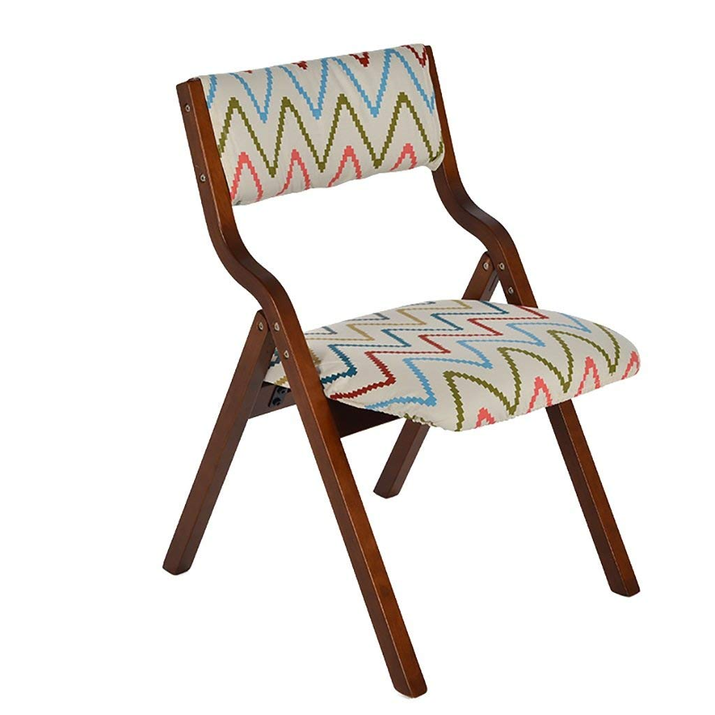 fold up chairs Wood folding chair simple modern home cloth dining chair desk chair back chair computer chair chairs Folding Chairs (Color : 5)