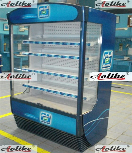 1200L supermarket used refrigerated case display chiller