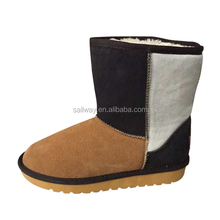 Women White Black Claybank Split Joint Color Snow Boots