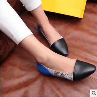 flat european stitching sweet women's newest leather shoes high head fashion shoes 2014 american and end spring square w7R6TWqFES