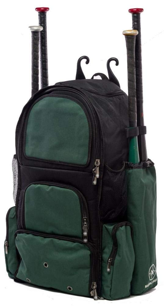 Get Quotations · Black and Dark Green Chita II (L) Adult Softball Baseball  Bat Equipment Backpack 61f646faa275b