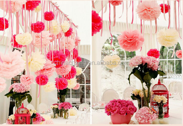 16inch 40cm Tissue Paper Pom Poms Wedding Party Decoration Craft Flower For Wall