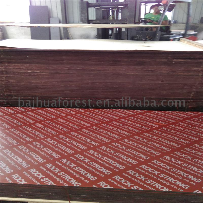 Red color film faced plywood use for concrete form plywood