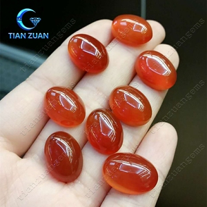 Natural Red Agate Round Gemstone Beads