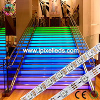 Hot sales digital 5050 ws2812b 60 RGB led flat strip light DC5V led strip 5Meter/Roll (CE&ROHS)