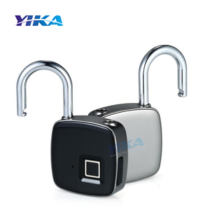 YIKA cheap fingerprint padlock wholesale lock cabinet biometric door locks key