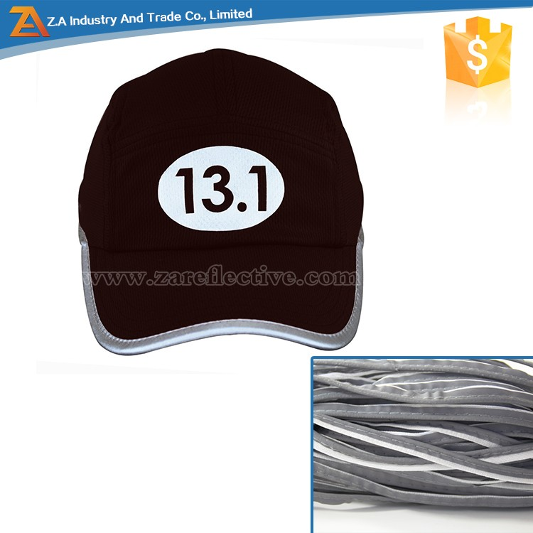 reflective piping cycle cap piping trim grey/black piping strip for clothing