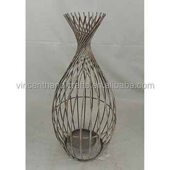 Metal Wire Vase Wire Center