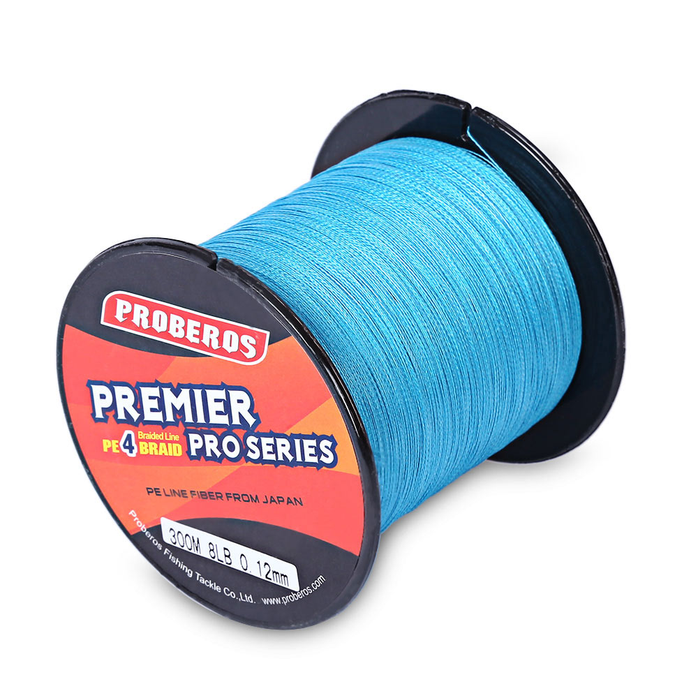 PROBEROS 300M 4 Strands 6LB to 80LB PE Braided Fly Fishing Line