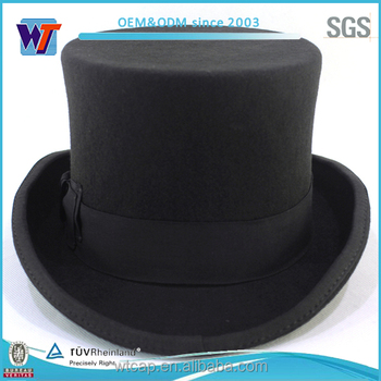 Selling Argentina wholesale black party top hats cheap Custom your own  party hat 2864e844a75