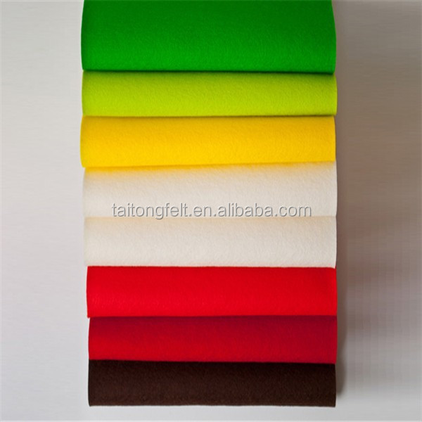 Colored wool felt sheet