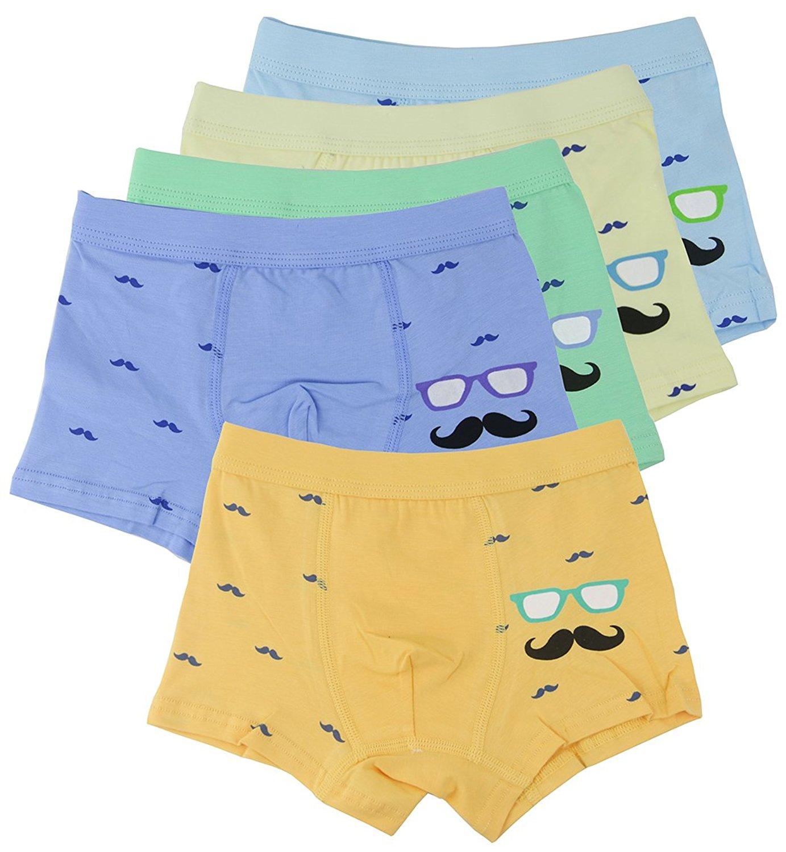 41487cb753f7 Get Quotations · Boys Kids Toddler Comfortable Cotton Boxer Briefs Underwear  For Little Boy - 5 Pack
