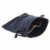 Double side pull soft black drawstring Microfibre Jewelry Pouch Bag
