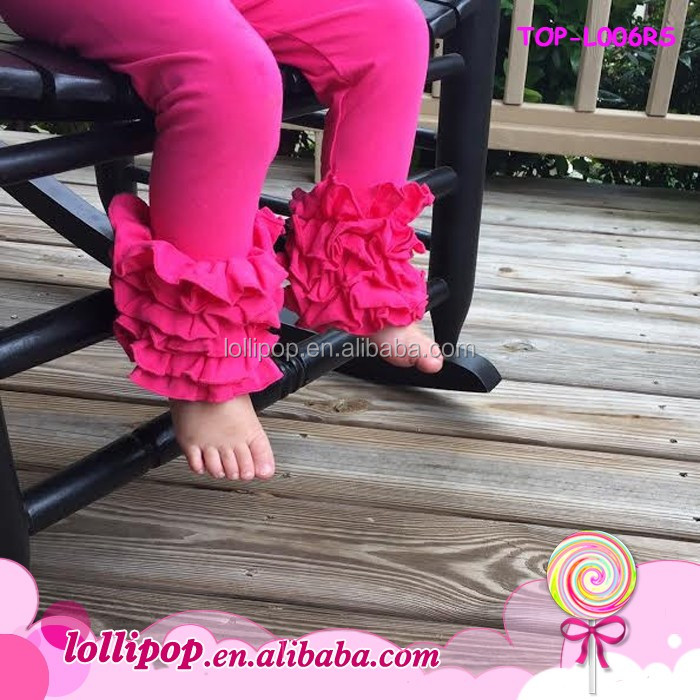 Best Selling Cotton Icing Ruffle Pants Fall Chic Baby Leggings Wholesale Triple Ruffle Legging pants