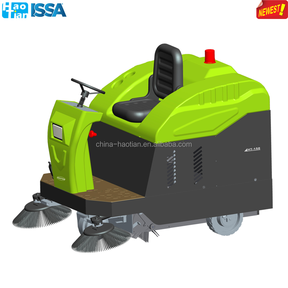 HT-150 New developed ride-on sweeper machine road floor cleaning machine