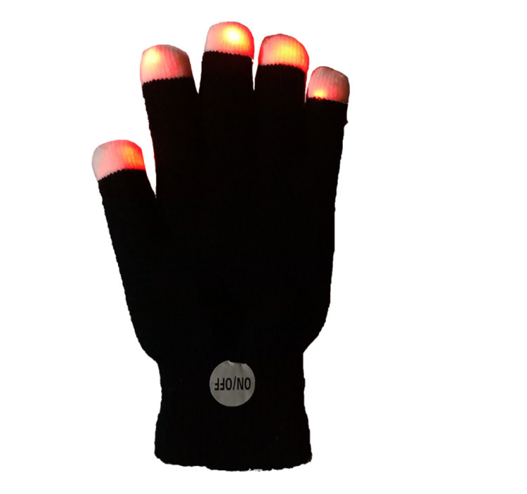2018 new idea product fingerless led glove glove light