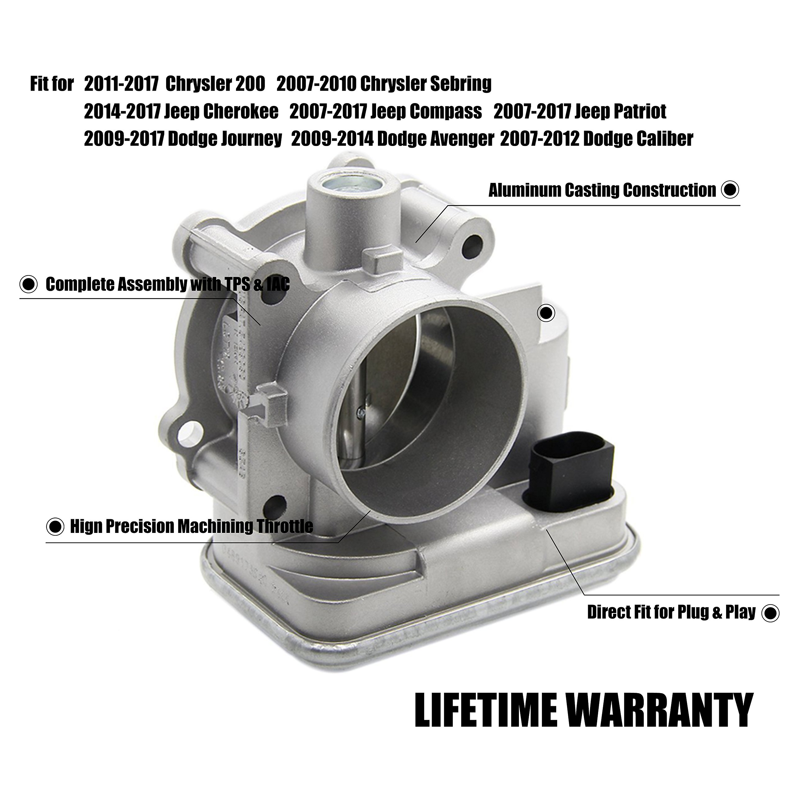 Cheap Iac Dodge Find Deals On Line At Alibabacom Chrysler Wiring Harness D350 Get Quotations 04891735ac Complete Electronic Throttle Body Assembly With Tps For Avenger Caliber Journey 200
