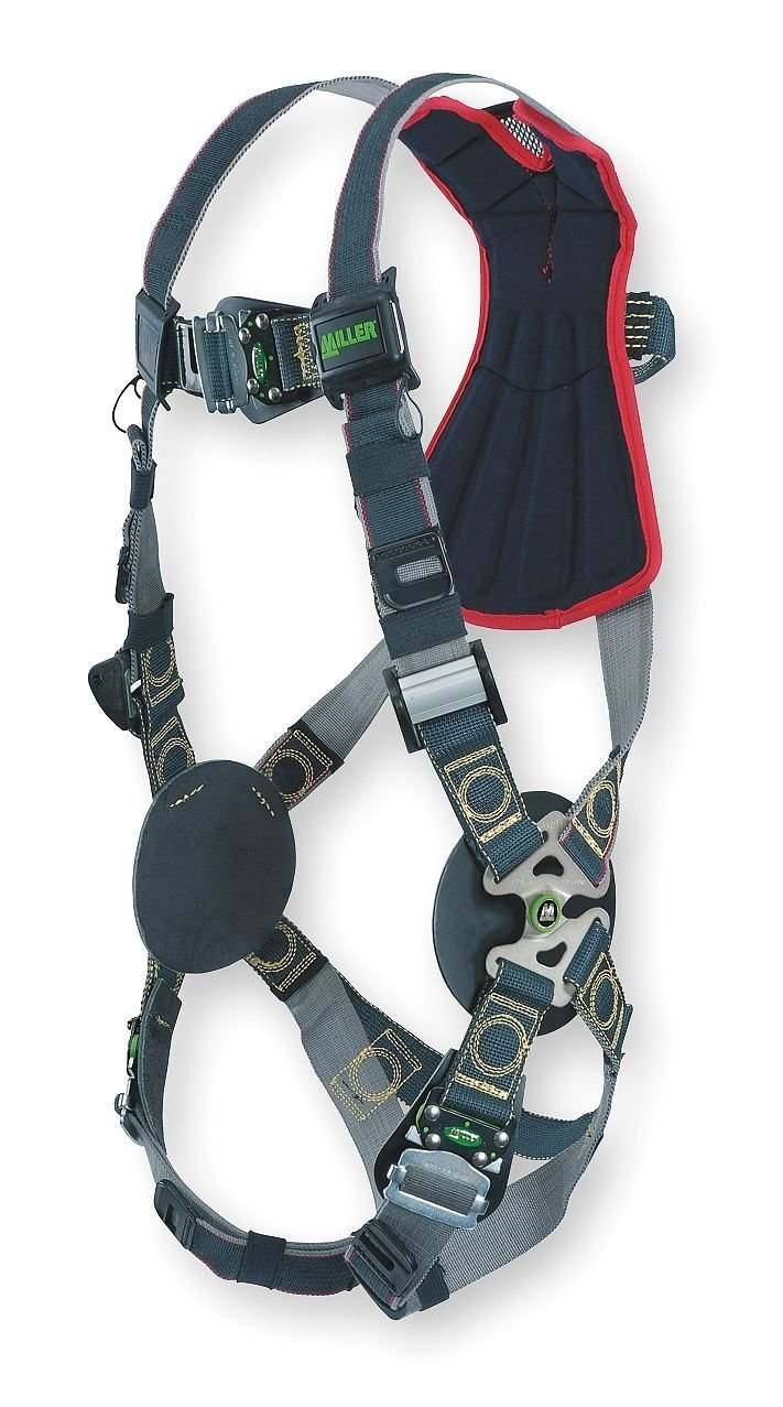 Honeywell RKNAR-QC/UBK Miller by Universal Revolution Arc-Rated Full Body Style Harness With Quick Connect Chest And Leg Strap Buckle, Leather Insulators And Web Back D-Ring, 15.34 fl. oz.