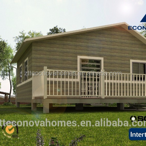 small wooden house design Middle East with light steel structure and solar system