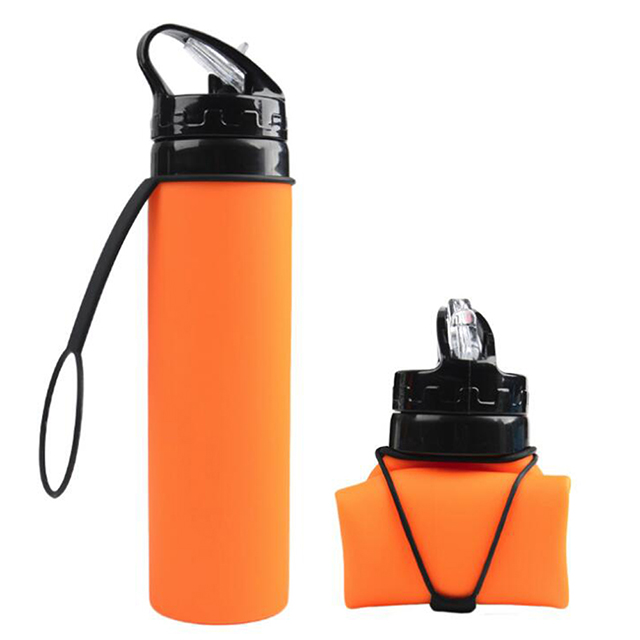 BPA Free silicone 600ml Collapsible folding Sports Water Bottle