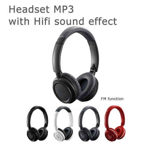 christmas gift Top sale headset free sport mp3 music download with FM radio