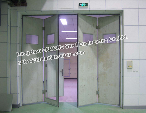 fire-proof sectional folding door for warehouse