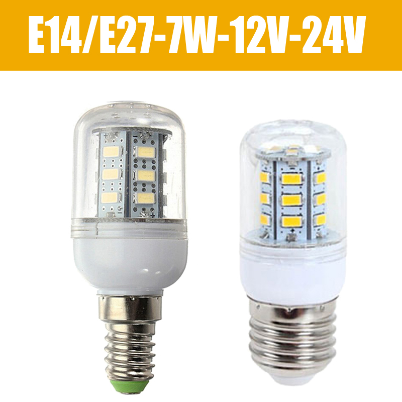 led lamps e27 e14 smd 5730 7w led spot lights bulb 12v 24v cool white warm white home. Black Bedroom Furniture Sets. Home Design Ideas