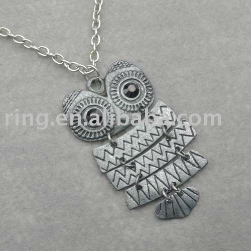 Tibet Silver Owl Gallant Amazing Metal Animal Necklace Pendent