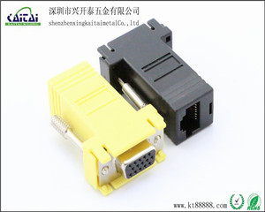 RJ45 to VGA female /RJ45 to vga adapter computer connector