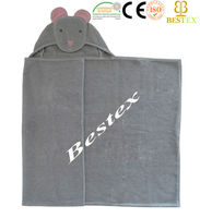 Lovely Animal Design 100% Cotton Terry Wrap Hooded baby bath Towel bulk buy from china